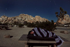 Rock Climbing Photo: warm summer jtree nights always make it great to s...