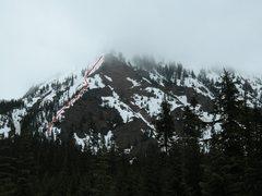Rock Climbing Photo: The start of the SW Ridge.