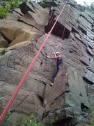 Rock Climbing Photo: Doc starting up Good Night