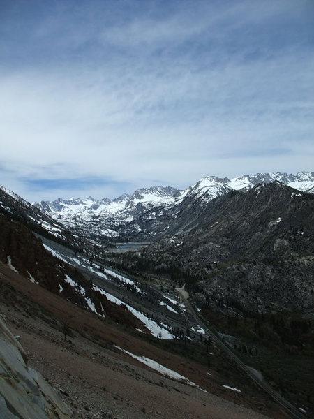 views of Sabrina Basin, one of the perks of climbing Cardinal