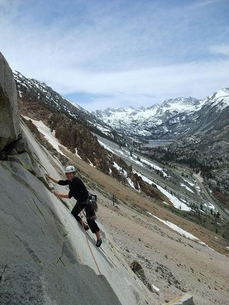 Rock Climbing Photo: Jessie enjoying P2