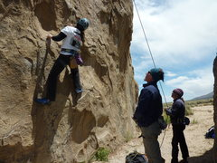 Rock Climbing Photo: My climbing Guru's James and Sara trying to instru...