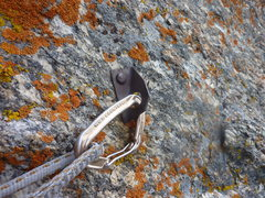 Rock Climbing Photo: The single piece of fixed gear on the route. June ...