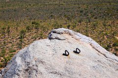 Rock Climbing Photo: Rappel anchors for getting down off Headstone (ove...