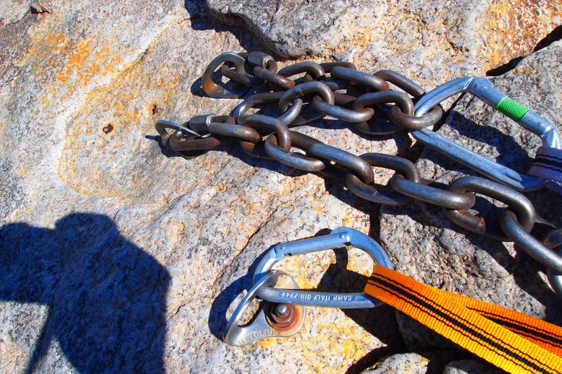 Rock Climbing Photo: Top rope anchors for Cryptic.