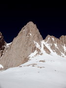 Rock Climbing Photo: Looking up at the East Face of Mt Whitney and the ...