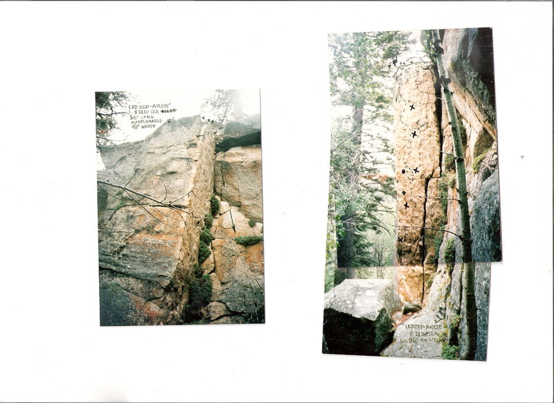 Rock Climbing Photo: LedZep arette 5.12A  lost cabin crag