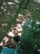 Rock Climbing Photo: the final moves