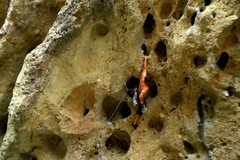 Rock Climbing Photo: This climb has a couple great knee bars providing ...