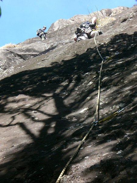 Rock Climbing Photo: Guilherme and Milson on Parede Preta.