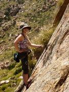 Rock Climbing Photo: Katie sportin' her killer shades/hat combo...  Bea...