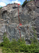 Rock Climbing Photo: Beta image for Classic Crack.