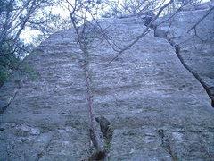 Rock Climbing Photo: Angulation goes straight up thru two (2)bolts.