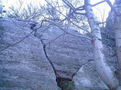 Rock Climbing Photo: Super Crack aka Wise Crack is the obvious offwidth...