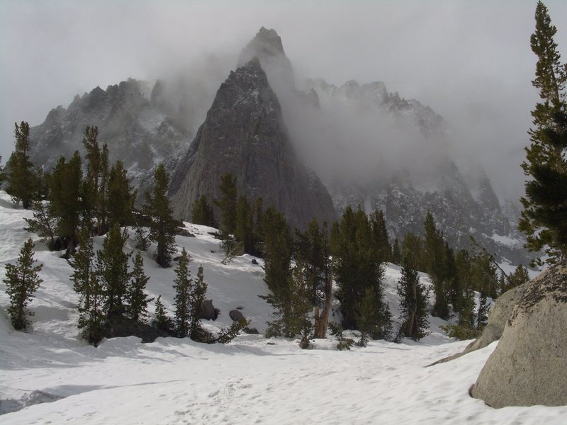 Rock Climbing Photo: Temple Crag from Second Lake(6/6/2011).