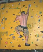 Rock Climbing Photo: muscle boy working the finger tips