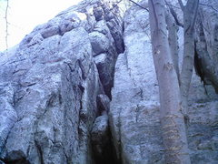 Rock Climbing Photo: Top section of The Great Chimney.
