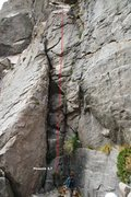 Rock Climbing Photo: Lower Elbow Room Right (Left) Topo