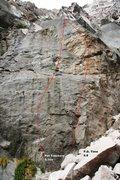 Rock Climbing Photo: Lower Elbow Room Right Topo
