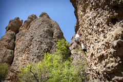 Rock Climbing Photo: Perin unfortunately using his right hand on Leftor...