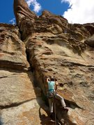 Rock Climbing Photo: Heading up the first pitch of the two routes, Haku...
