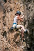 Rock Climbing Photo: Fritzy cranking through the lower portion of Deman...