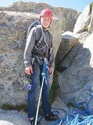 Rock Climbing Photo: Noah's first major trad route follow/clean!