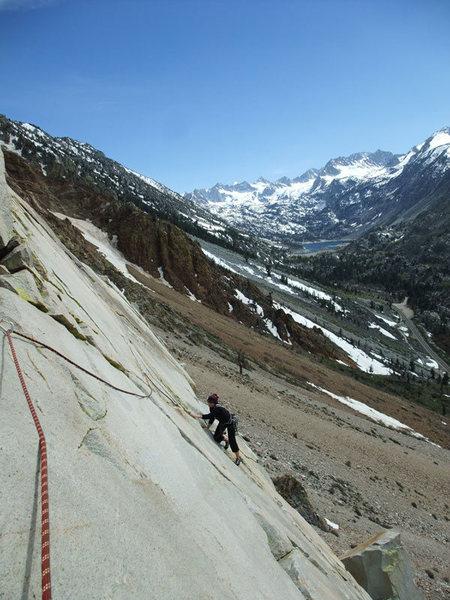 Rock Climbing Photo: the P2 traverse