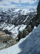 Rock Climbing Photo: an ice axe may be helpful in early season in the g...