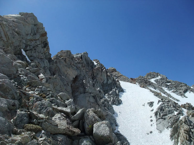 Rock Climbing Photo: final ridge traverse