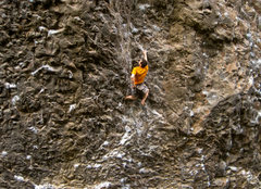 Rock Climbing Photo: The open book dihedral found on the routes upper h...