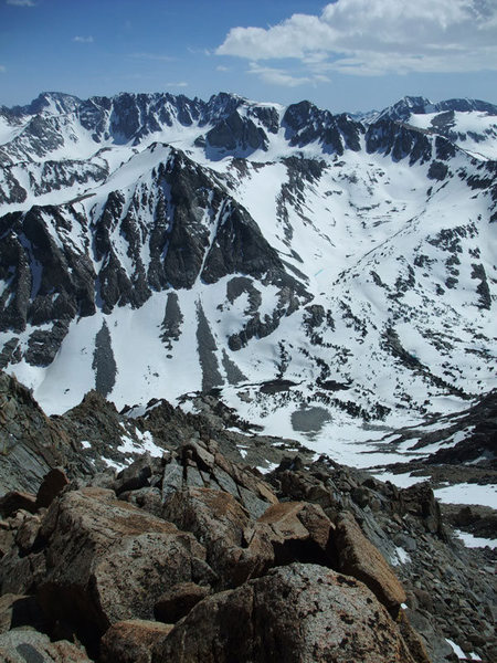 Rock Climbing Photo: the rock rib was much more pleasant to descend tha...