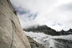 Rock Climbing Photo: Starting up the P1 slab.