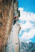 Rock Climbing Photo: Nice, steep corner below the roof.