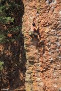 Rock Climbing Photo: Passing the crux section - Procrastination