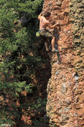 Rock Climbing Photo: On The Arete for the finish of Procrastination