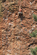 Rock Climbing Photo: Big Cobbles & Deep Holes after the harder moves - ...