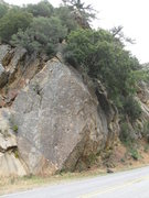 Rock Climbing Photo: Glory Days climbs the steep face past the two huec...
