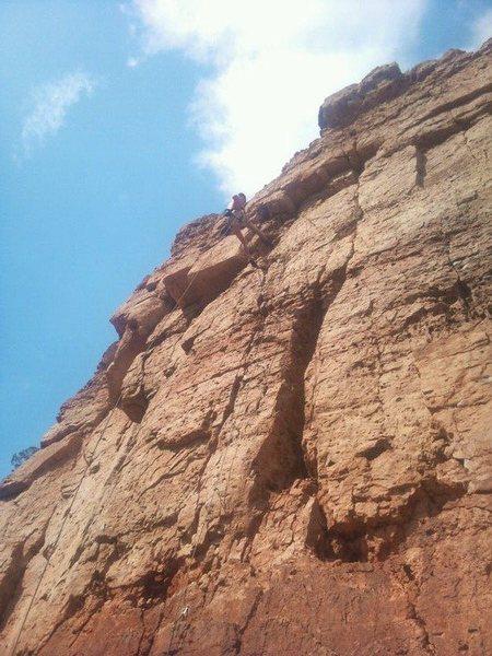 Rock Climbing Photo: On rap.