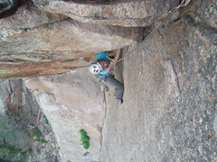 Rock Climbing Photo: This route is steep!