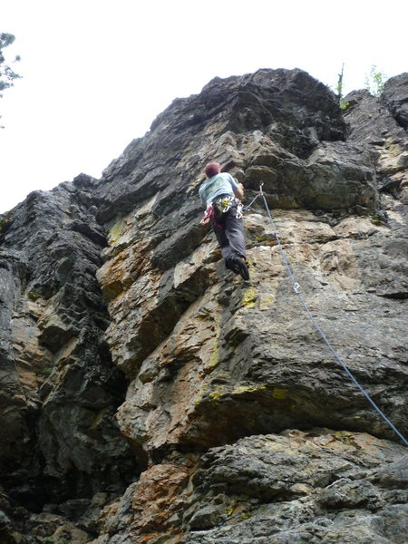 Rock Climbing Photo: Leading Dogs of Lust in Mazama.