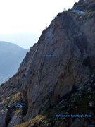 Rock Climbing Photo: Welcome to Bald Eagle Peak - Route Photo