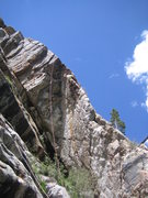Rock Climbing Photo: Griz clipping the last bolt before pulling over th...