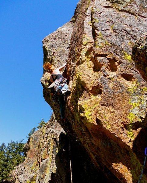 Rock Climbing Photo: 2nd pitch of Hand Cracker Direct