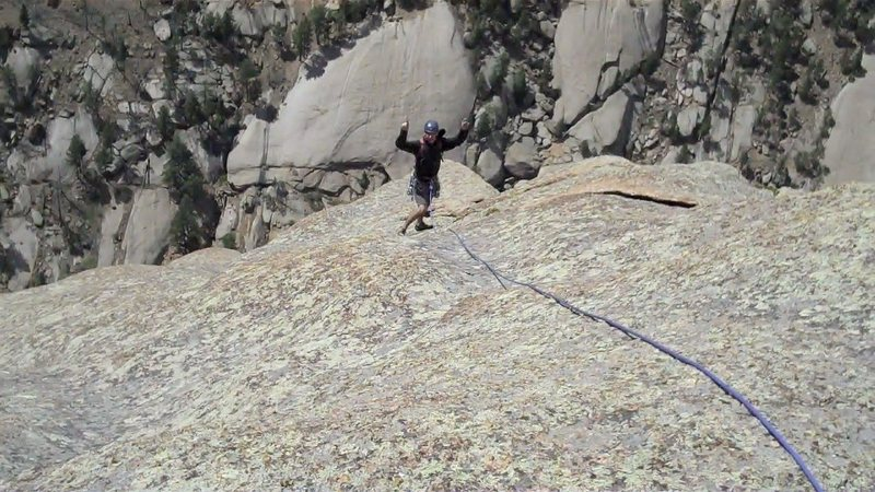 Rock Climbing Photo: Dane enjoying the final pitch.