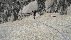 Rock Climbing Photo: Dane enjoying the final pitch.
