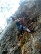 Rock Climbing Photo: Sending Rhetoric 12a at Reimer's Ranch