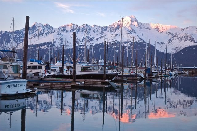Rock Climbing Photo: Mount Alice from the small boat harbor