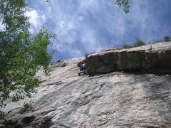 Rock Climbing Photo: Lower part of the route.