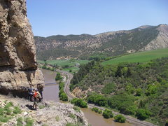 Rock Climbing Photo: Hiking back to the car, the first 2 routes are jus...